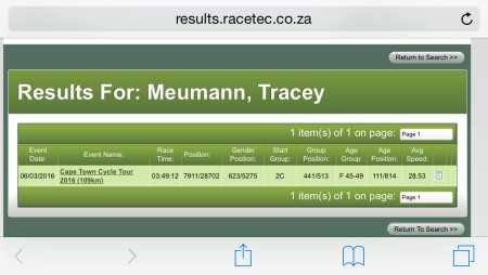 tracey results